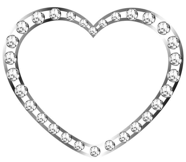 Silver Heart With Diamonds Free Clipart Gallery Yopriceville High Quality Images And Transparent Png Free Clipart Free Clip Art Clip Art Apple Clip Art