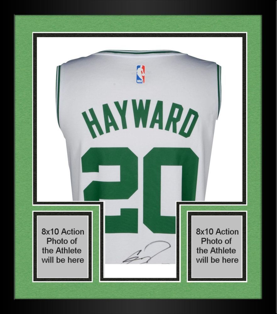 f127c09a3d7 Framed Gordon Hayward Boston Celtics Autographed Fanatics White Fastbreak  Jersey