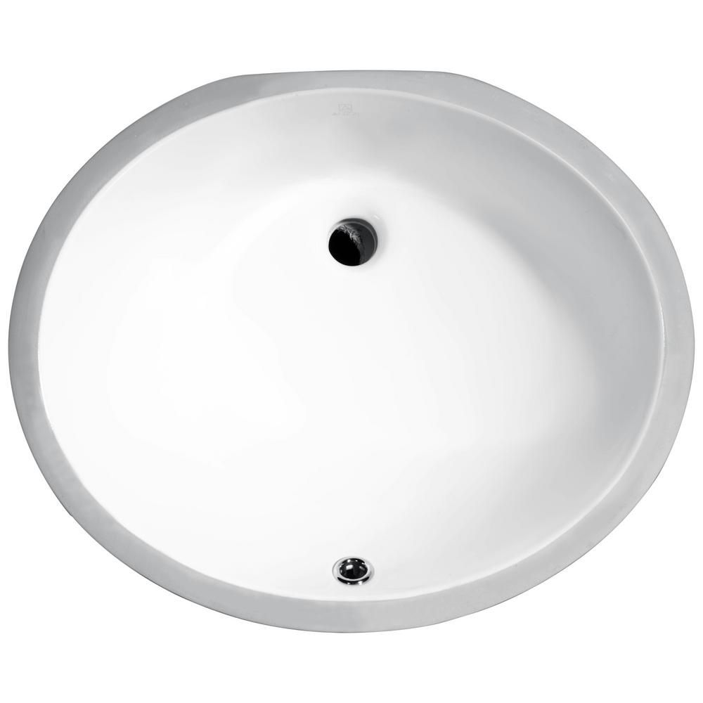 9a5b098ffb10e a bit smaller but deeper ANZZI Pegasus Series 8 in. Ceramic Undermount Sink  Basin in White-LS-AZ103 - The Home Depot