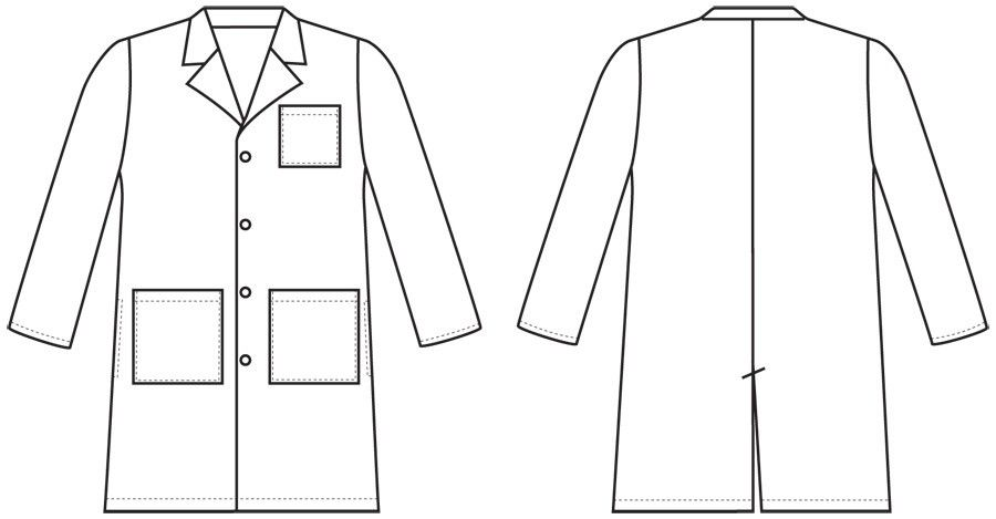 Lab Coat Size Medium Coat Doctor Coat Coloring Pages