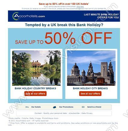 Company Accor Hotels Hq Subject 50 Off Hotel Breaks This Summer Bank Holiday Inboxvision Is A Global Database And Email Gallery Of 1 5 Million B2c