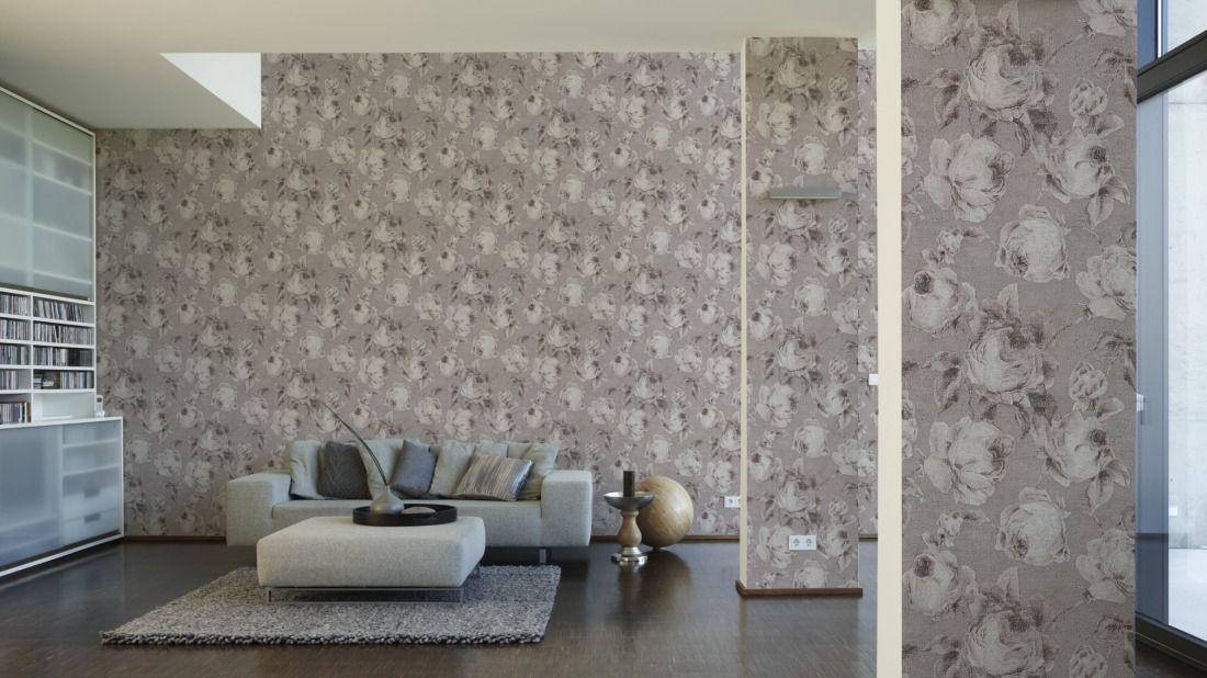 AS Création Tapete 960501; simuliert auf der Wand Tapeten - schöner wohnen tapeten wohnzimmer