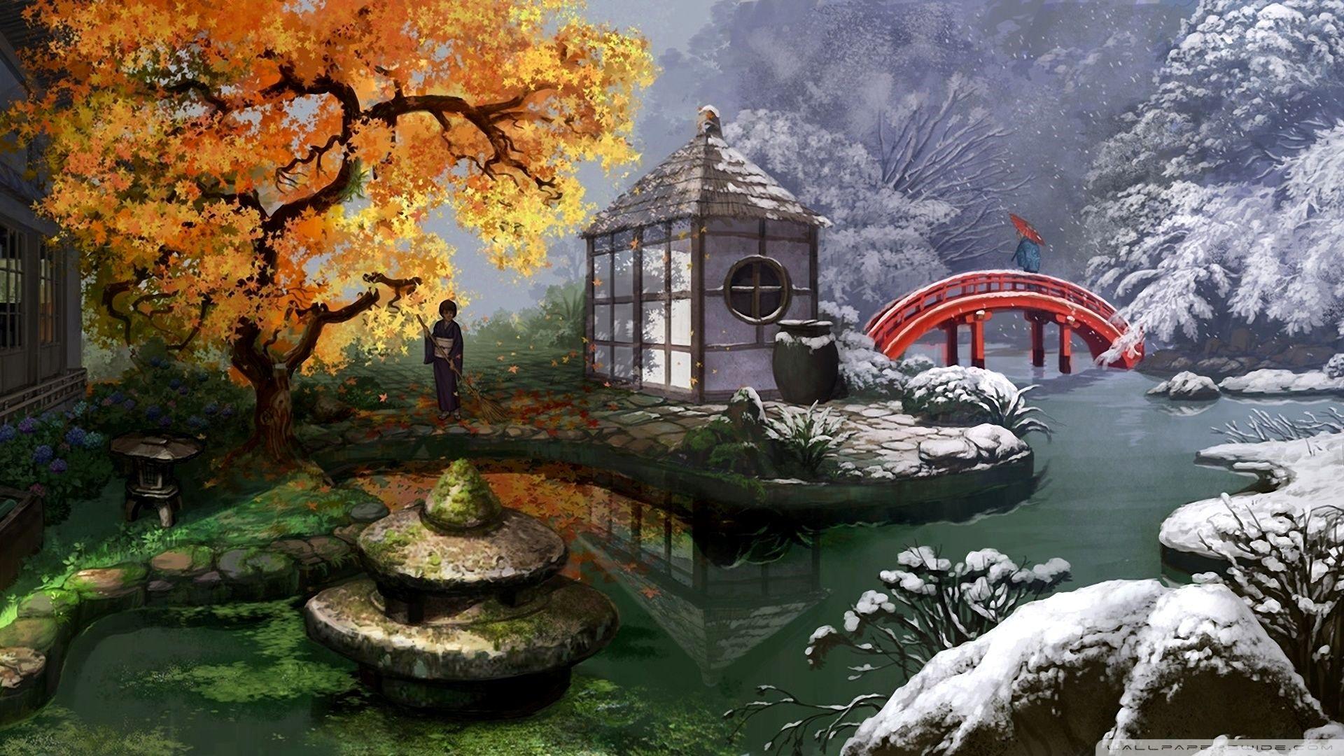 4k Wallpaper Zen Garden Trick