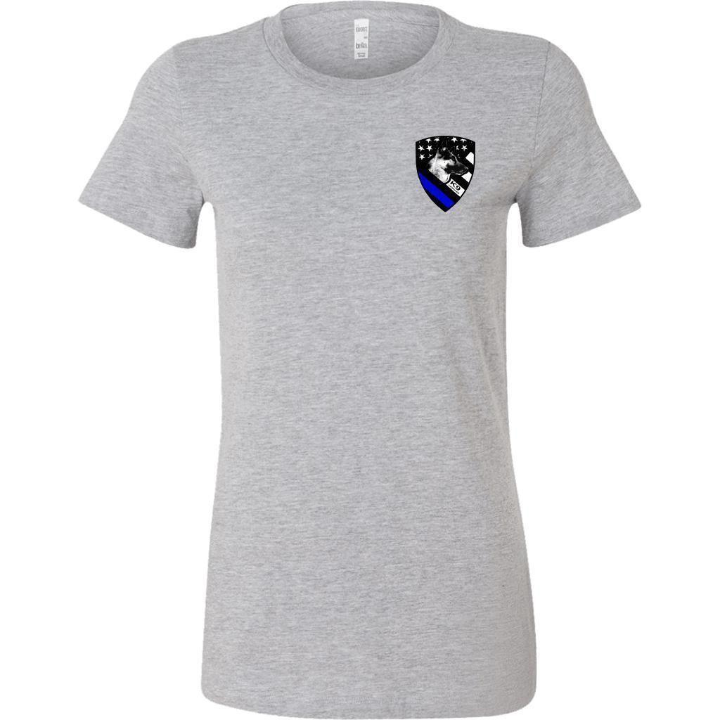 83f8f159e6b6 Police K9 Handler - Double Sided - T-Shirt