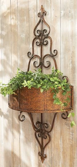 Cbk Home Old World Window Box Style Wall Planter Tuscan Decorating Tuscan Garden Plant Stands Outdoor