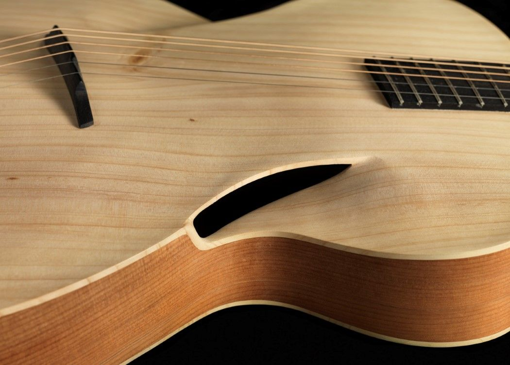 The Acoustic Guitar Gets Its First Significant Design Mod In 180 Years Yanko Design Custom Acoustic Guitars Guitar Design Guitar