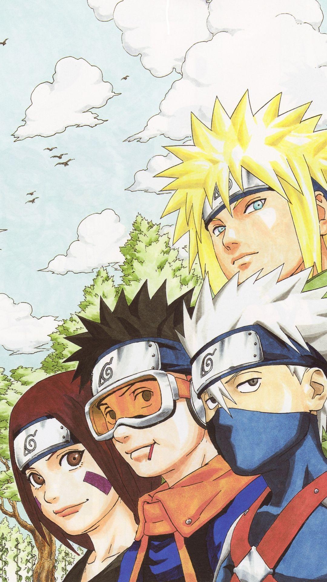 Kakashi Obito And Rin Naruto Shippuden Iphone Wallpaper