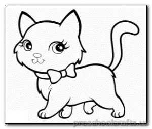 Kitten Coloring Pages Preschool And Kindergarten Cat Coloring Page Animal Coloring Pages Coloring Pictures