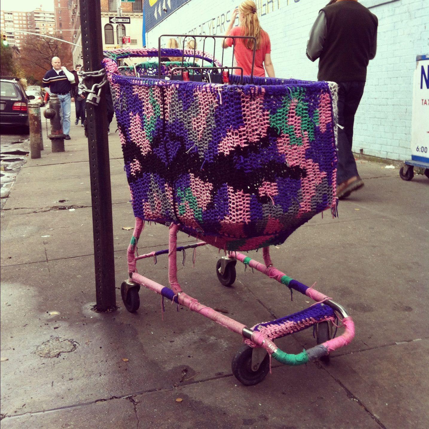 Yarn bomb! (photo by Emily)