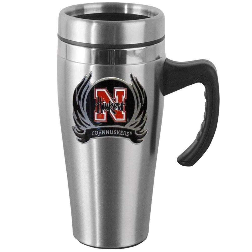 Nebraska Cornhuskers Steel Travel Mug w/Handle
