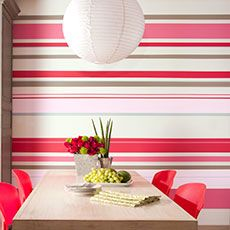 Bands in varied widths pull together a lively palette on this kitchen nook. Follow our step-by-steps to get the look.