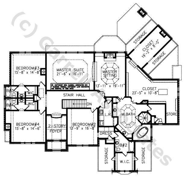 04163 South Hampton Manor 2nd Floor Plan Normandy Style