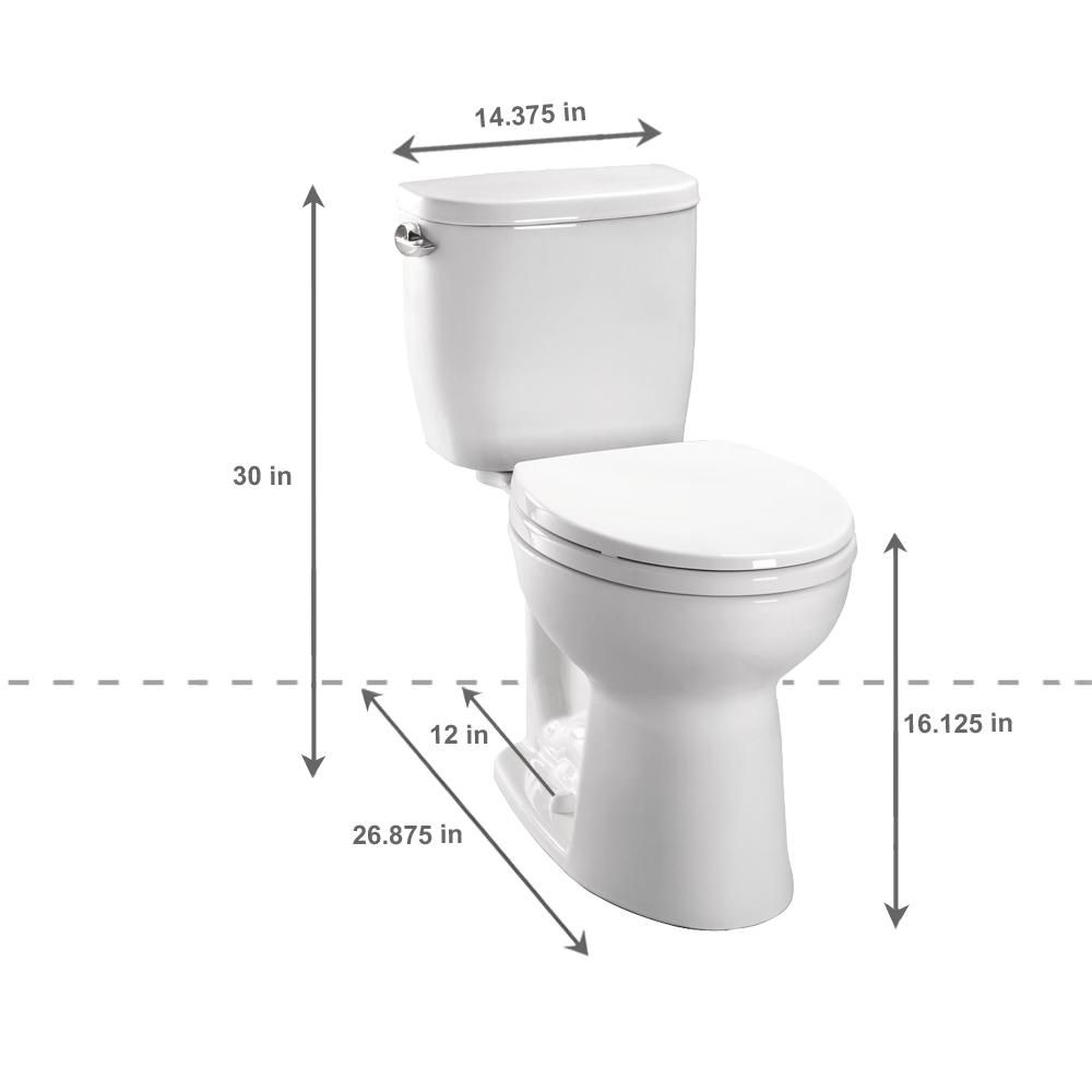 Toto Entrada 2 Piece 1 28 Gpf Single Flush Round Toilet In Cotton