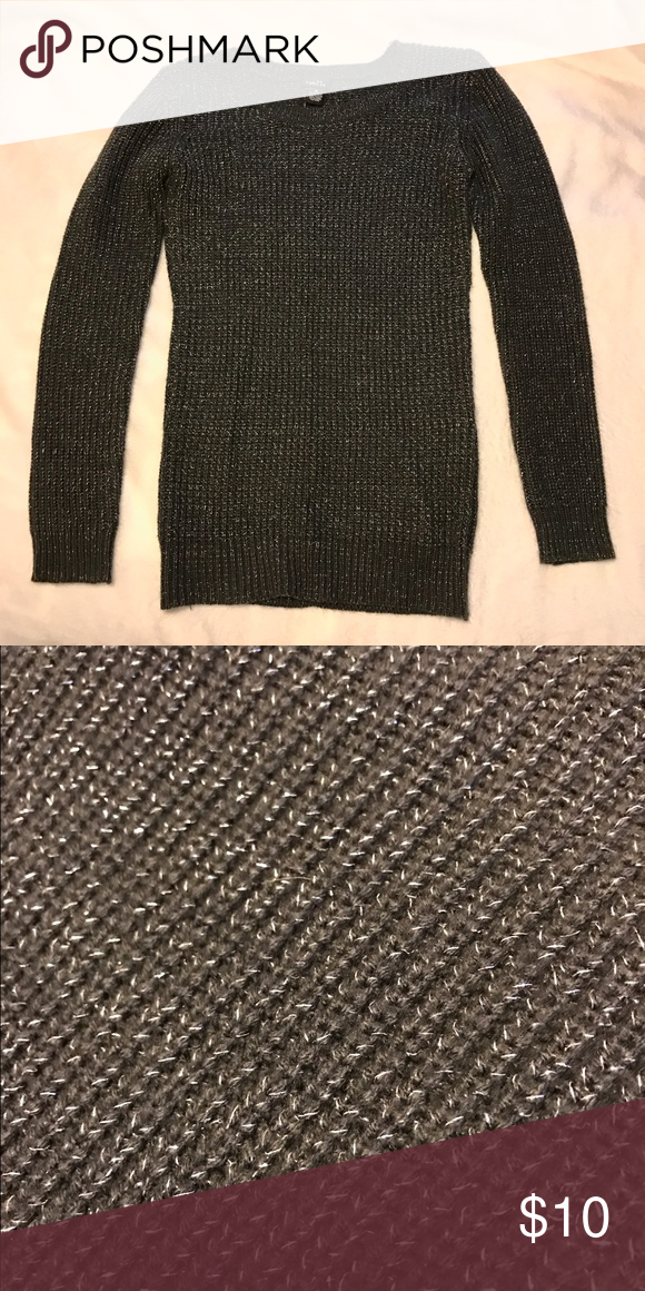 Sold*** Dark gray & silver sweater | Silver sweater