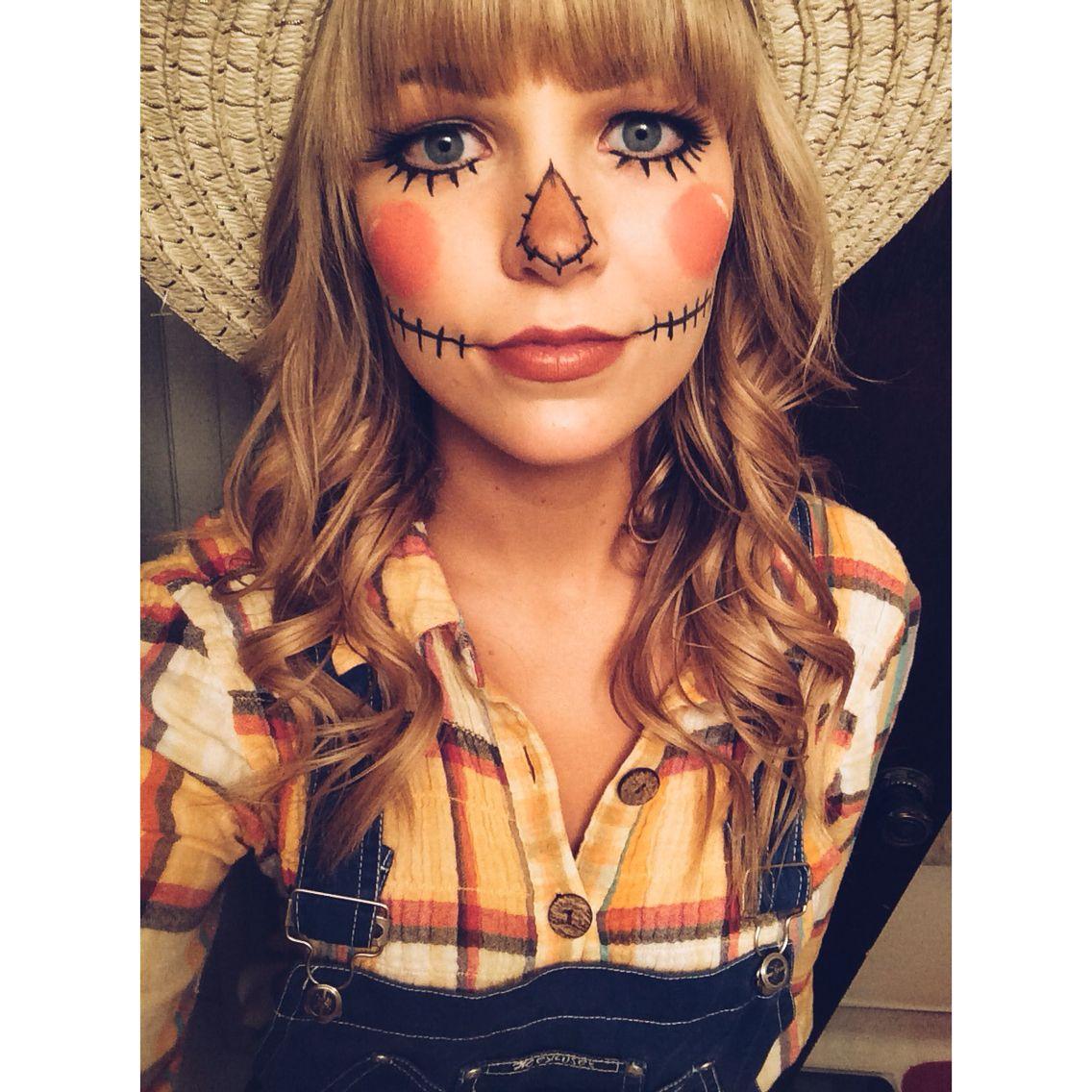 Scarecrow makeup | h o l i d a y s | Pinterest | Scarecrow makeup ...