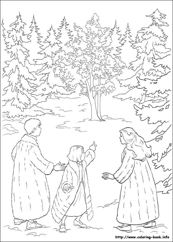 The Chronicles Of Narnia Coloring Picture Forest Coloring Pages Coloring Pages Cartoon Coloring Pages