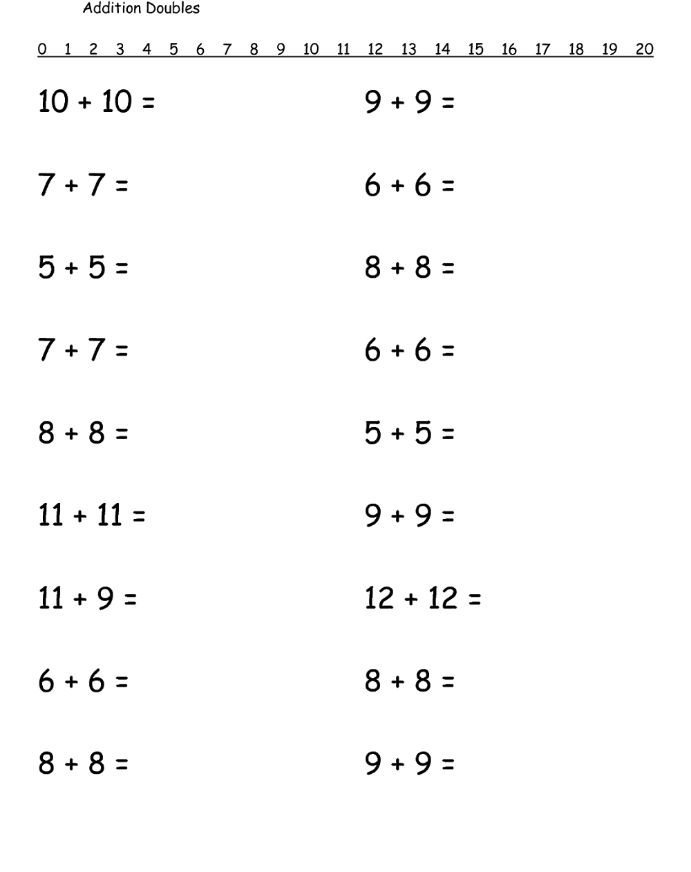 medium resolution of Free Printable 1st Grade Math Worksheets activity   First grade math  worksheets