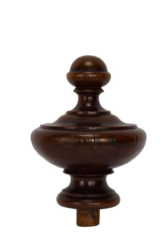 Best Antique Architectural Wood Stairwell Finial French Turned 640 x 480