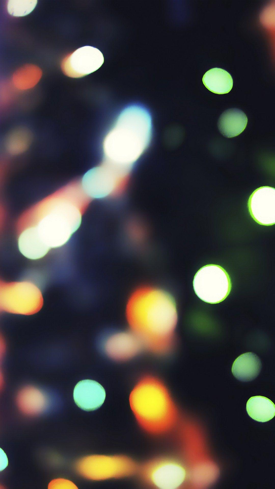 Neon Light Bokeh IPhone 7 Wallpaper