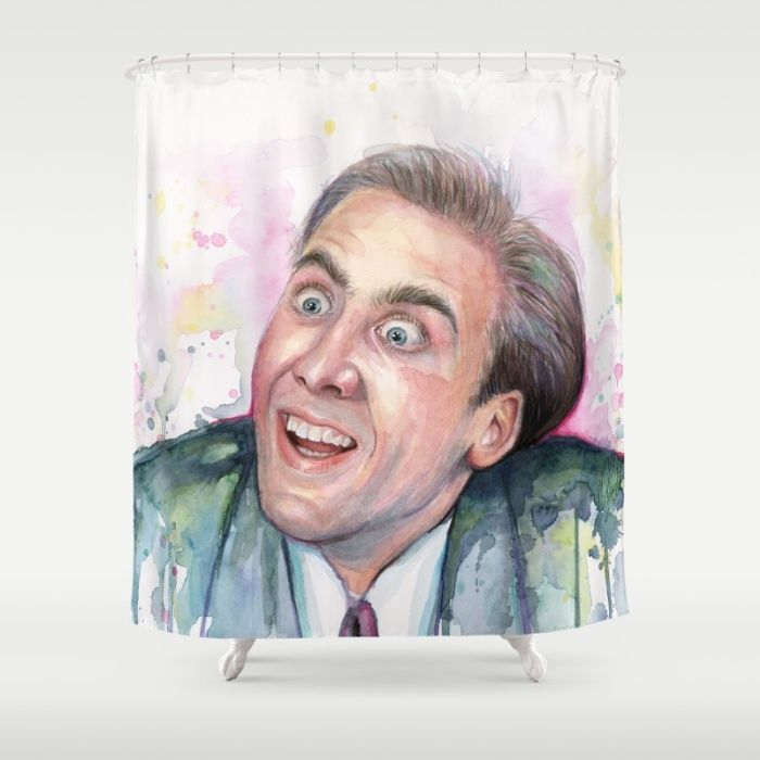 Nicolas Cage You Don T Say Shower Curtain Funny Shower Curtains Shower Curtain Nicolas Cage