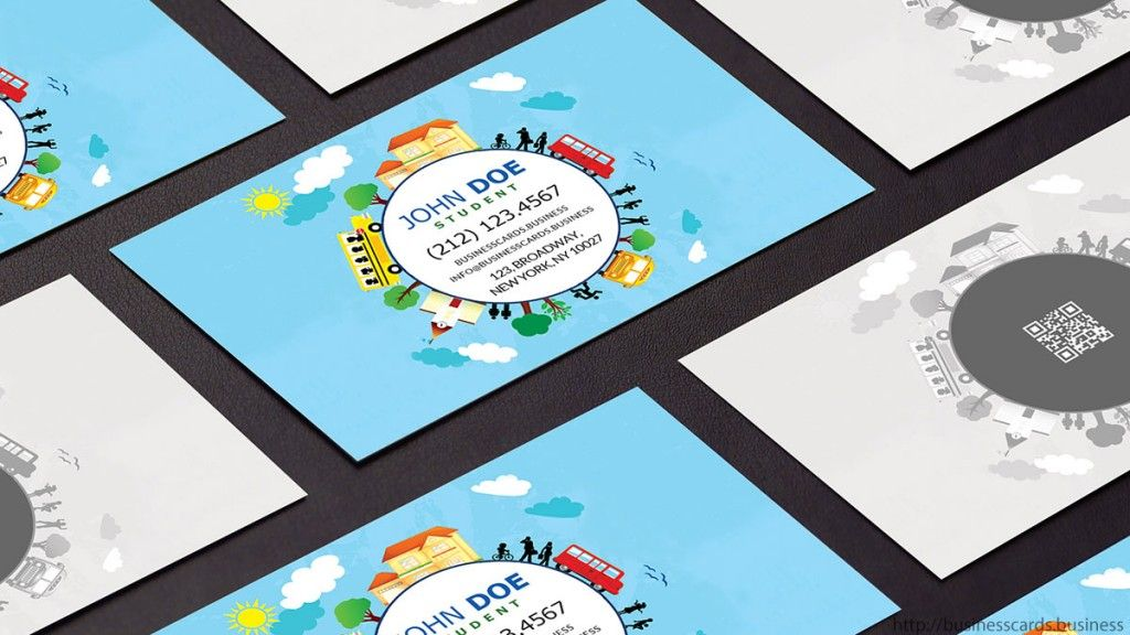 Back to school business card design with funny style education back to school business card design with funny style education school businesscards wajeb Image collections