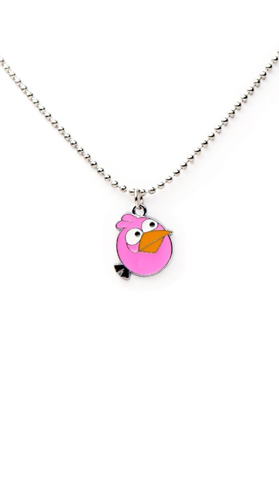 Li'l pink Angry Bird. An almost-finished fad, but still cute.