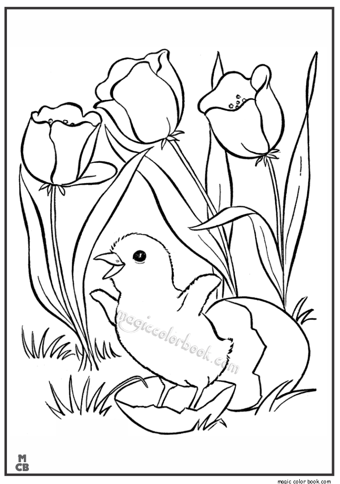 Pin de Magic Color Book en Spring Coloring pages free online | Pinterest