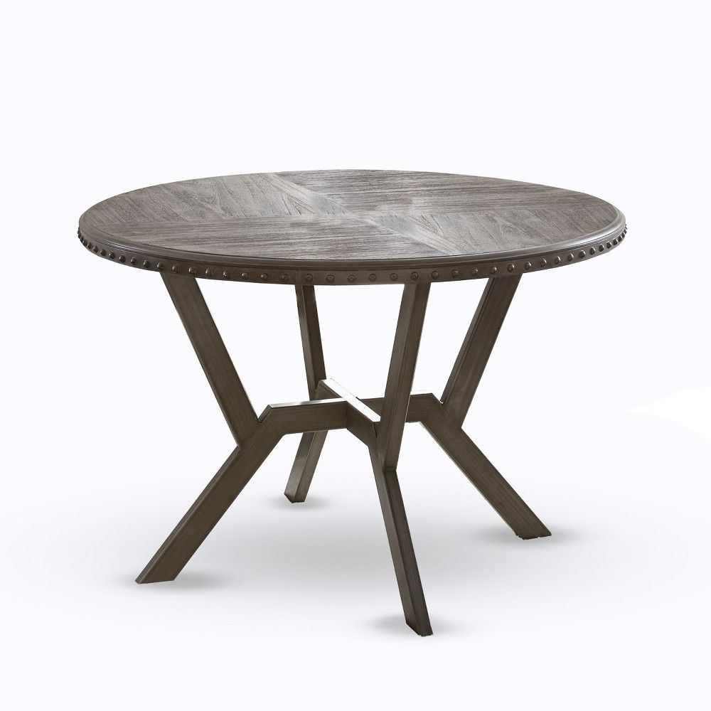 Alamo Round Dining Table Gray Steve Silver Dining Table Reclaimed Wood Dining Table Round Dining Table [ 1000 x 1000 Pixel ]