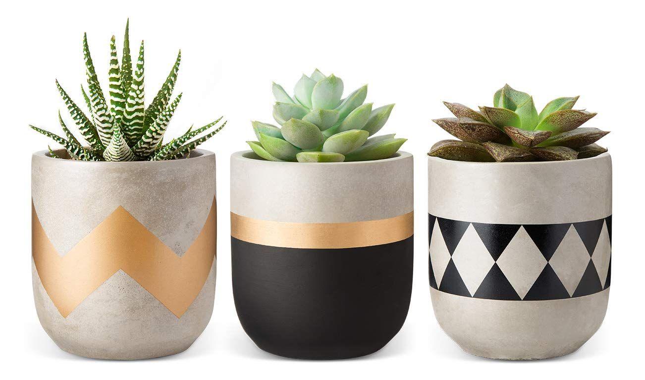 4 Inch Planters Marble Ceramic Succulent Pot Indoor Modern Cactus Herb Flower Of