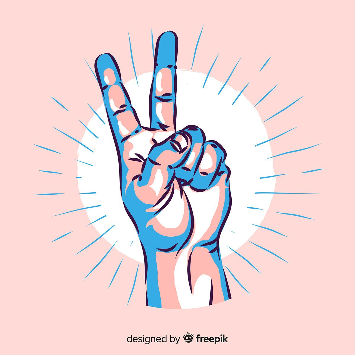 Hand Peace Sign Symbol Vector Png Peace Symbols Hand V Sign Green Yes Gesture Vector Colores