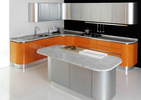 diseo de cocinas en naranja