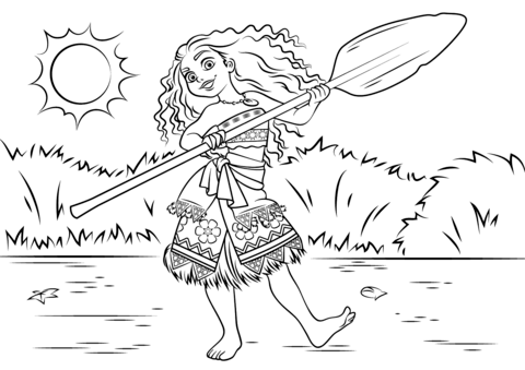 Princess Moana Waialiki coloring page from Moana category. Select ...