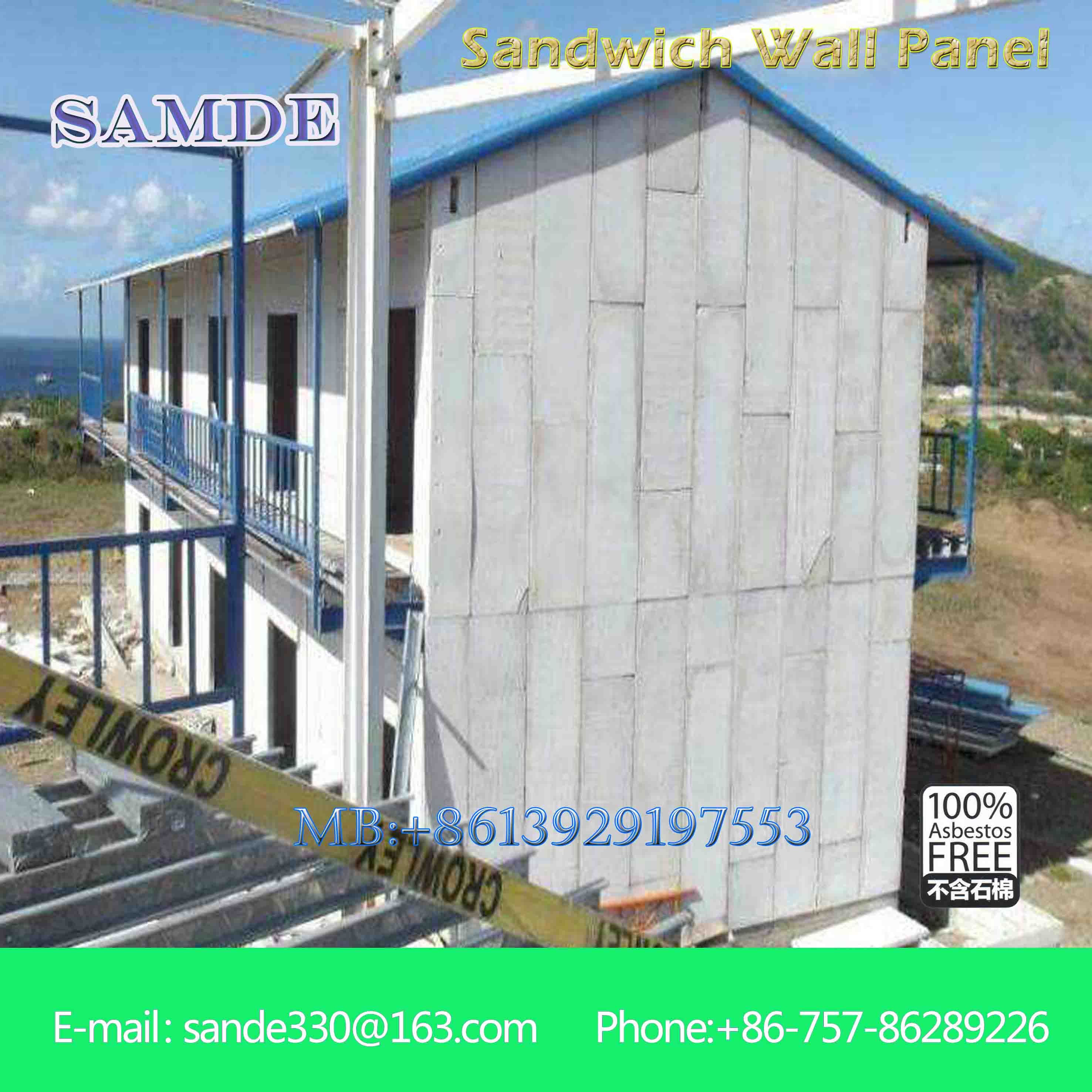 Prefabricated Wall Panel For Steel Structure House Fast
