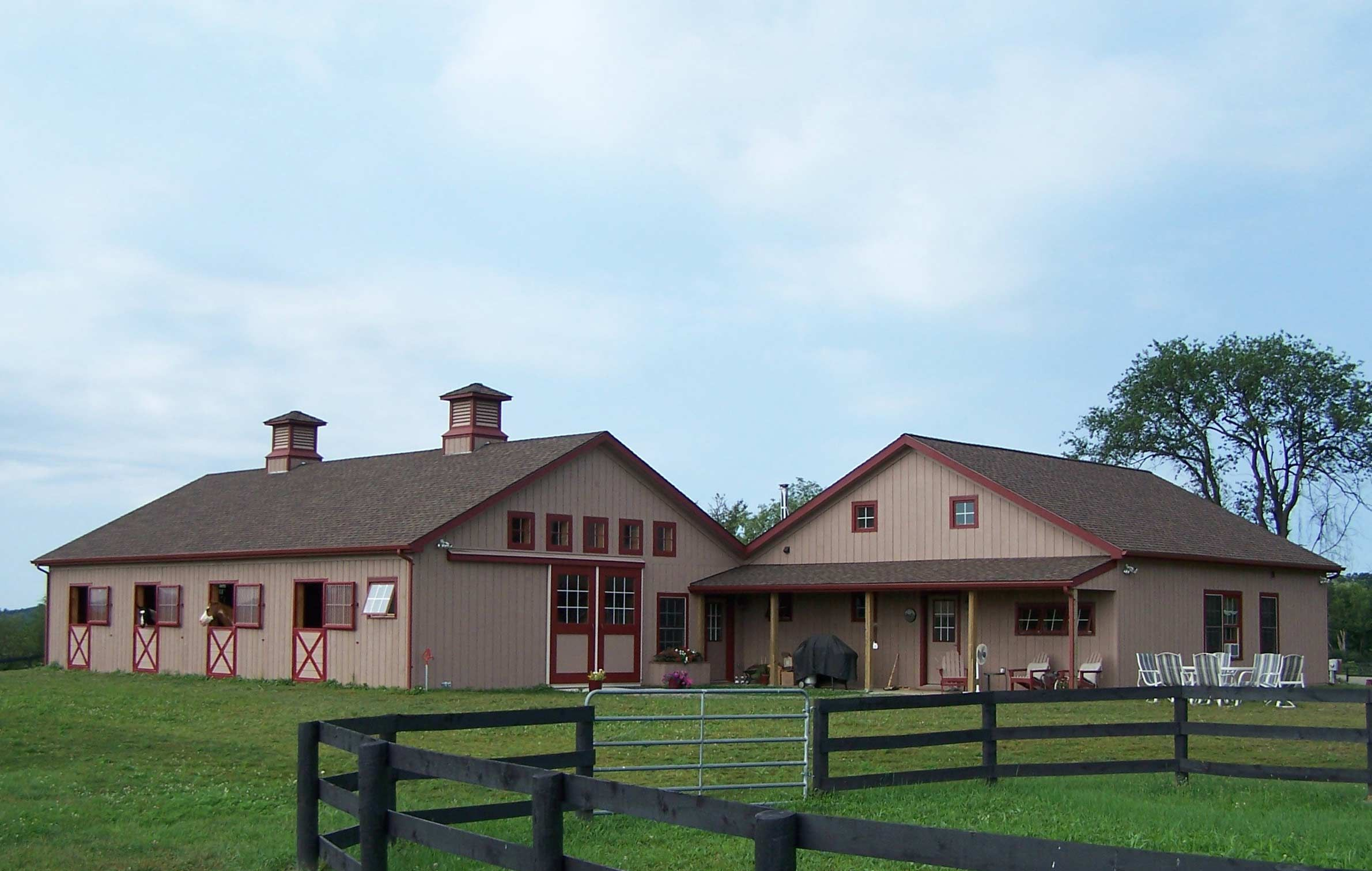 home plans with attached barn house design ideas