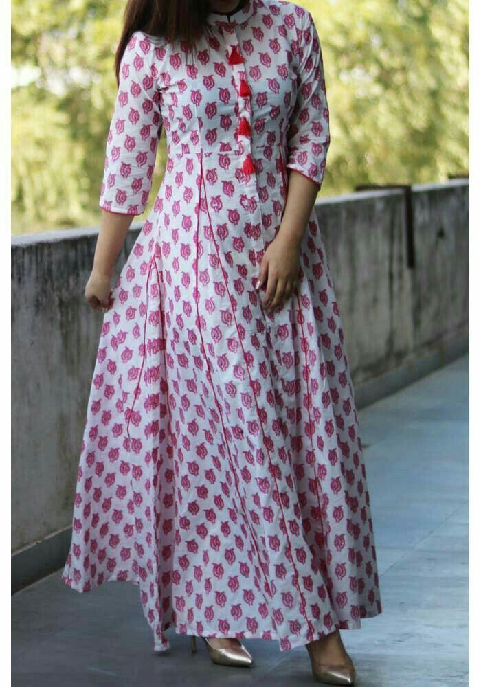 Floor Leangth Kurti Indian Wear Dresses Fashion