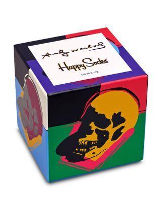 Happy Socks Warhol Skull Gift Box - Pack of 3 Men - Bloomingdale's #andywarhol