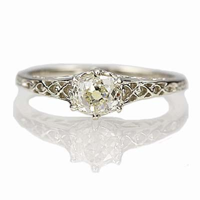 New York, NY Jewelry, engagement rings - Leigh Jay Nacht - Replica Edwardian Engagement ring - 1901-17