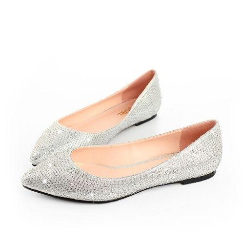 Silver Flat Wedding Shoes
