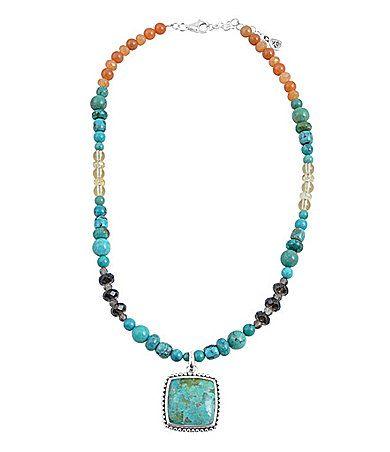 Barse Posh Beaded Pendant Necklace | Dillards.com