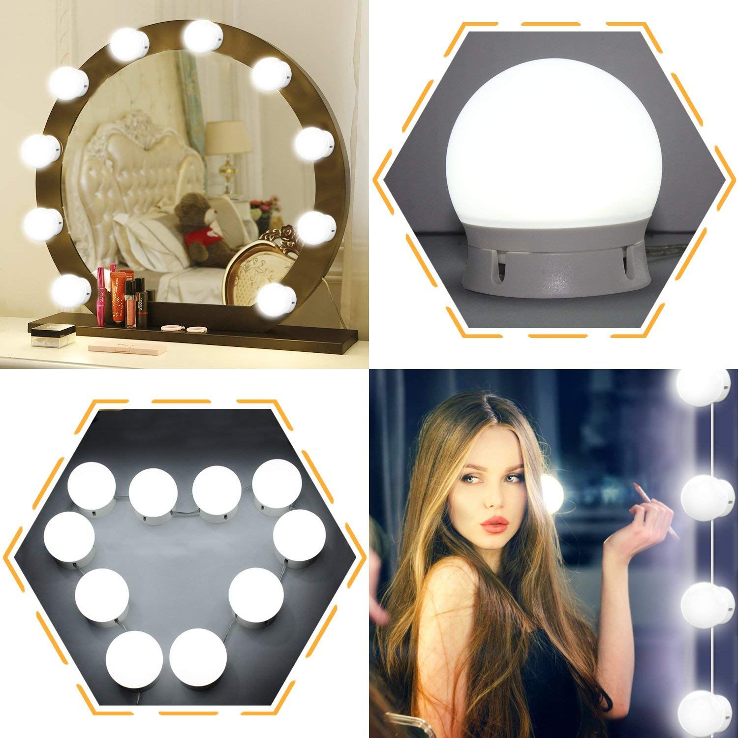 Home In 2020 Mirror With Led Lights Mirror With Lights Led Makeup Mirror