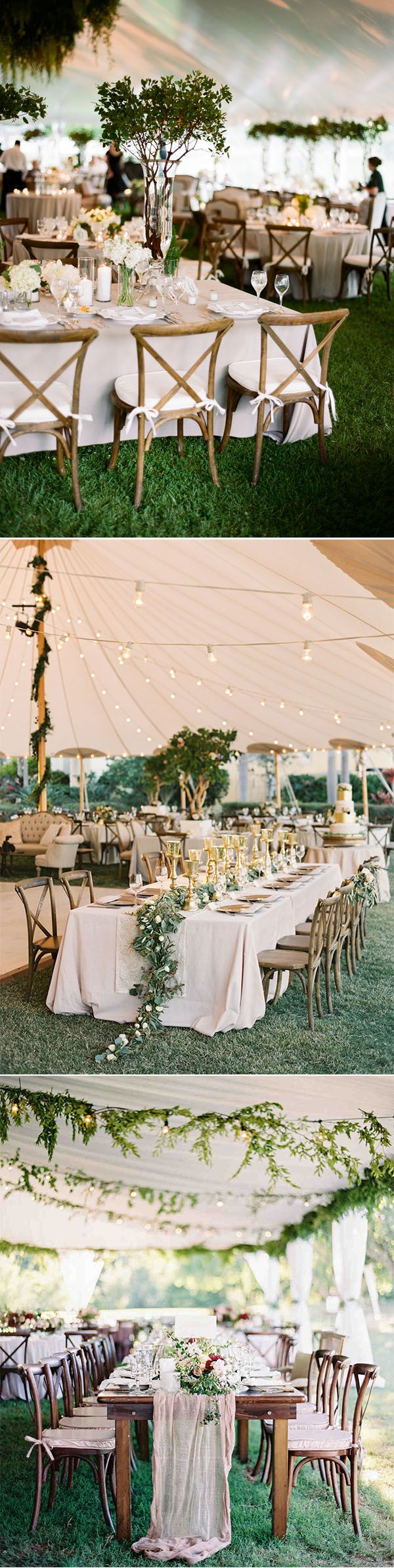 11 fancy tented wedding decoration ideas to stun your guests greenery tented wedding reception decorating ideas junglespirit Gallery