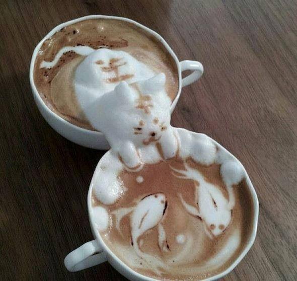 Les 25 meilleures id es de la cat gorie art de cappuccino for Cuisine couleur cappuccino