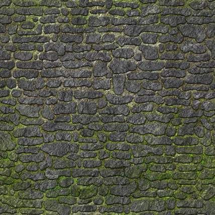 Medieval Fantasy Stone Wall Texture Hand Painted