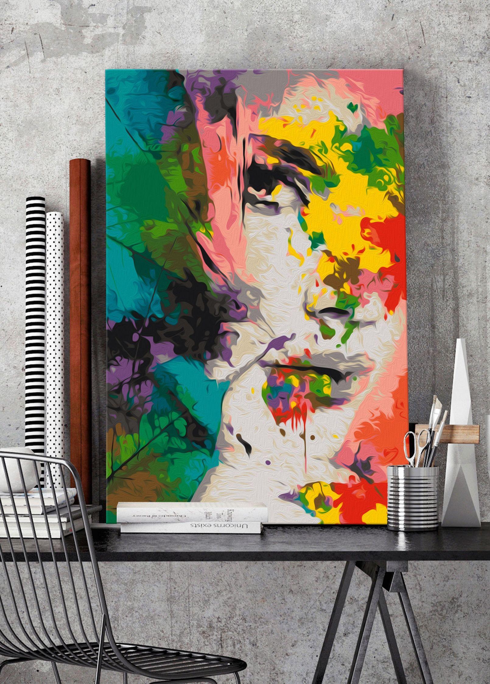 wandbild zum malen nach zahlen farben der weiblichkeit acrylbilder abstrakt malerei abstrakte bilder online kaufen kunstdrucke modern art
