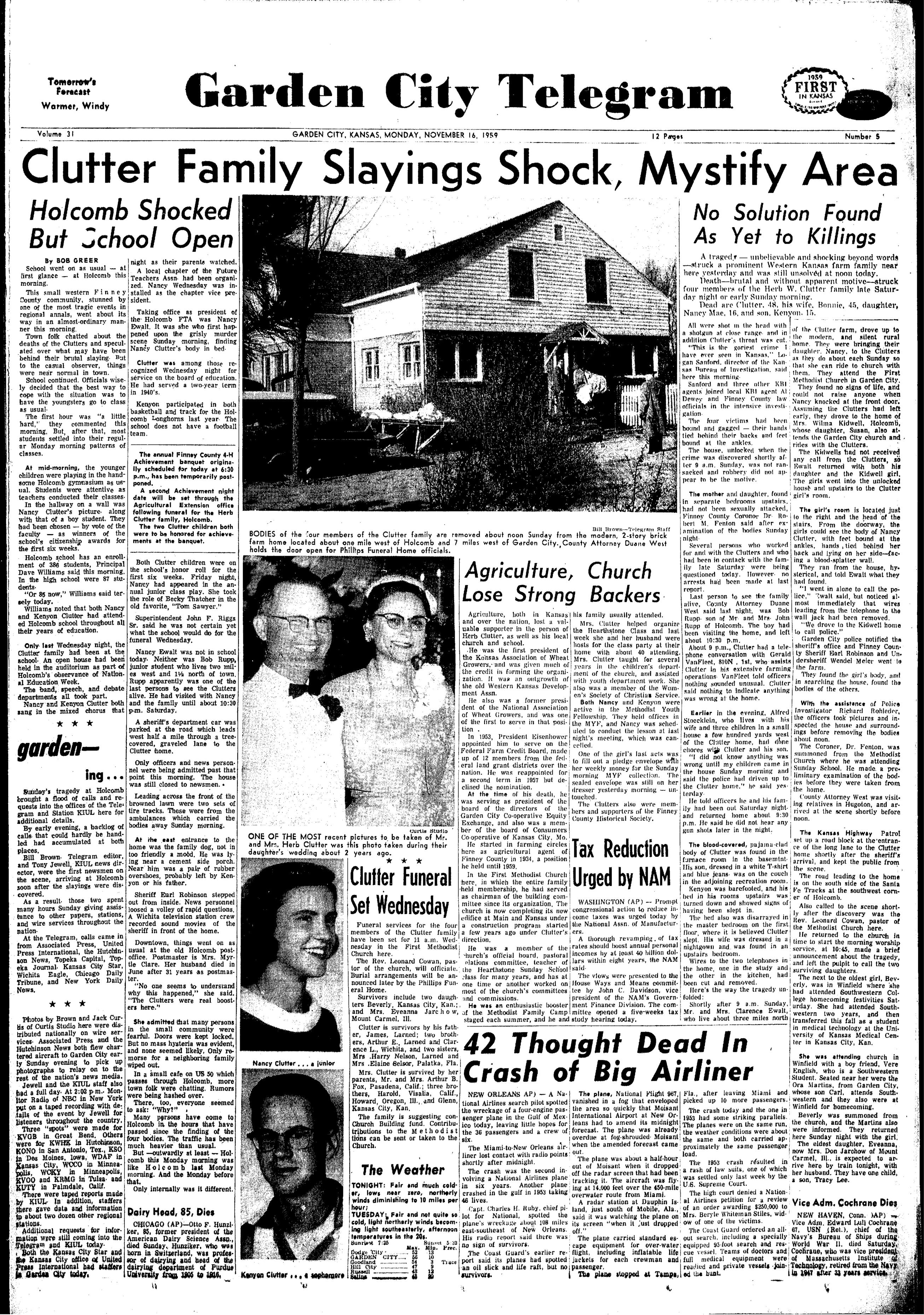 Garden City Telegram, Garden City, Kansas, Monday