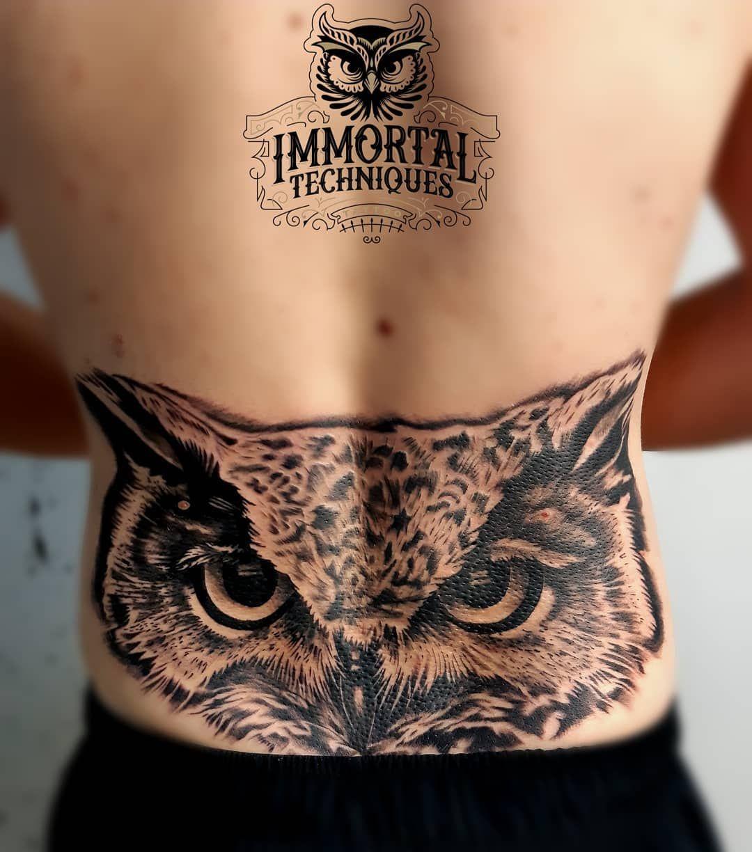 #owl #owltattoo #backtattoo #realismtattoo #tattoo #tattooed #ink #tattoostyle #manwithtattos #inkedup #inkaddicts #tattooart #tattoist #inkteraphy #immortaltattoos #tatts #tattooer