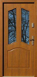 Classic wooden exterior door model 501s2