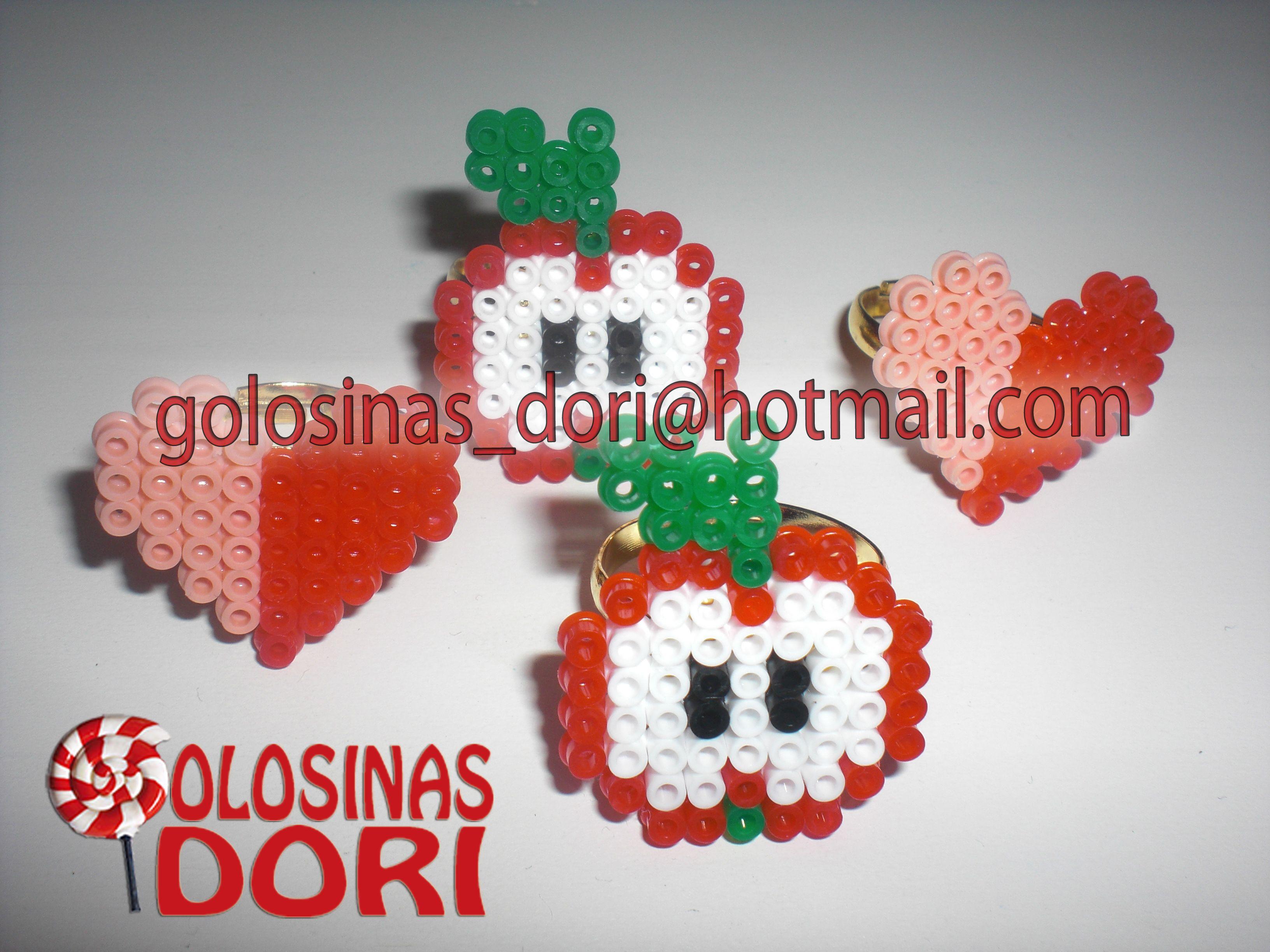 Anillos Hama Beads - 1,50€/und   Haz tu pedido en golosinas_dori@hotmail.com
