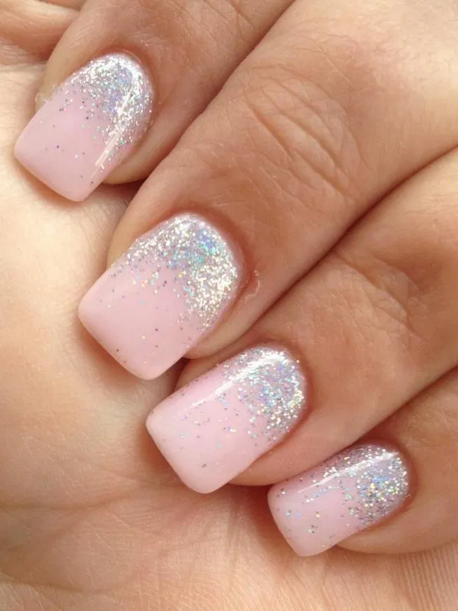 99 Glitter Gel Nail Designs For Short Nails For Spring 2019 12 Thereds Me Glitter Gel Nails Glitter Gel Nail Designs Makeup Nails Designs