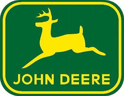 John Deere Leaping Deere Moline Ill Decals Set Of Two 2